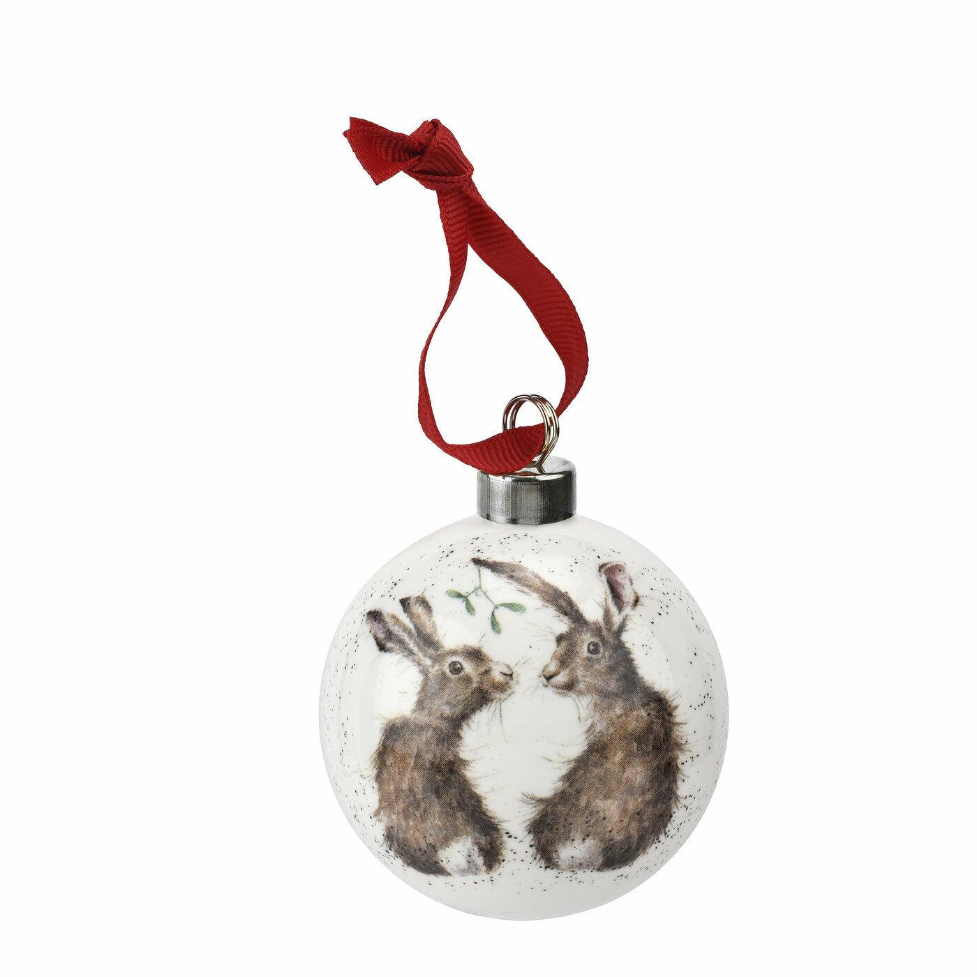 Royal Worcester Wrendale Liebres Decoración de Navidad Adorno-todo lo que quiero para Chri