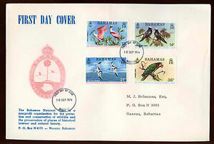 Bahamas-1974-National-Trust-Birds-FDC-First-Day-Cover-C13391