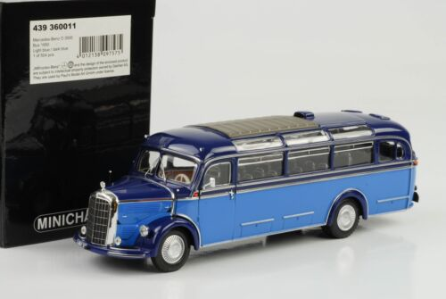 1950 Mercedes-Benz O 3500 Bus Hell Dunkel blau 1:43 Minichamps