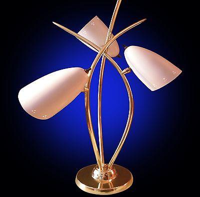 RARE Laurel Space Age Atomic triple cone VTG 50s 60s mid century lamp