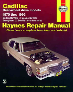 Haynes Workshop Manual Cadillac 1970 1993 Deville Seville Brougham Repair Servic Ebay