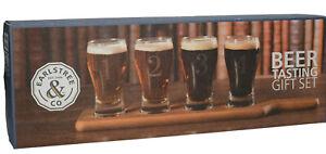 Earlstree-amp-Co-Set-4-Mini-Verre-Pinte-Biere-Degustation-Cadeau-amp-Portion-Plateau