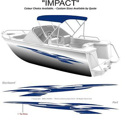 "BOAT GRAPHICS  DECAL STICKER KIT ""IMPACT -2800""  MARINE CAST VINYL"