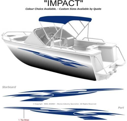 BOAT GRAPHICS  DECAL STICKER KIT IMPACT -2800  MARINE CAST VINYL