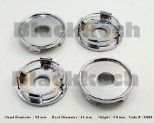 4x No LOGO Wheel Center cap hubs Tuning Car Chrome Finished 50mm x 45mm #049