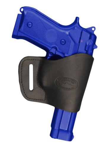 Barsony Black Leather Yaqui Gun Holster for Paraordnance 9mm 40 45 Full Size