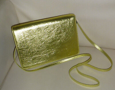❤️ Damen Tasche Handtasche Umhängetasche Abend Party Clutch gold glänzend NEU ❤️