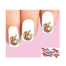 Waterslide Fish Nail Decals Set of 20 - Japanese Tattoo Koi with Cherry Blossoms
