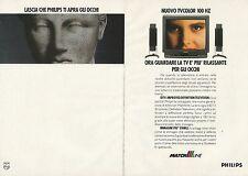 X9685 PHILIPS Match Line - TV Color 100 Hz - Pubblicità 1991 - Advertising