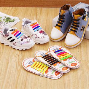 best cheap purchase cheap new design Details about Coolnice Easy No Tie Shoelaces Elastic Shoe Laces 12pcs/set  For Kids Children UK