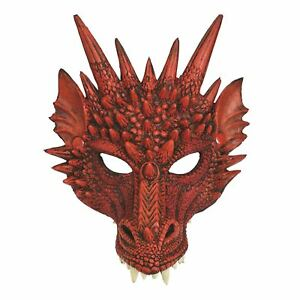 Dragon Mask Red, Halloween/game Of Thrones, Fancy Dress