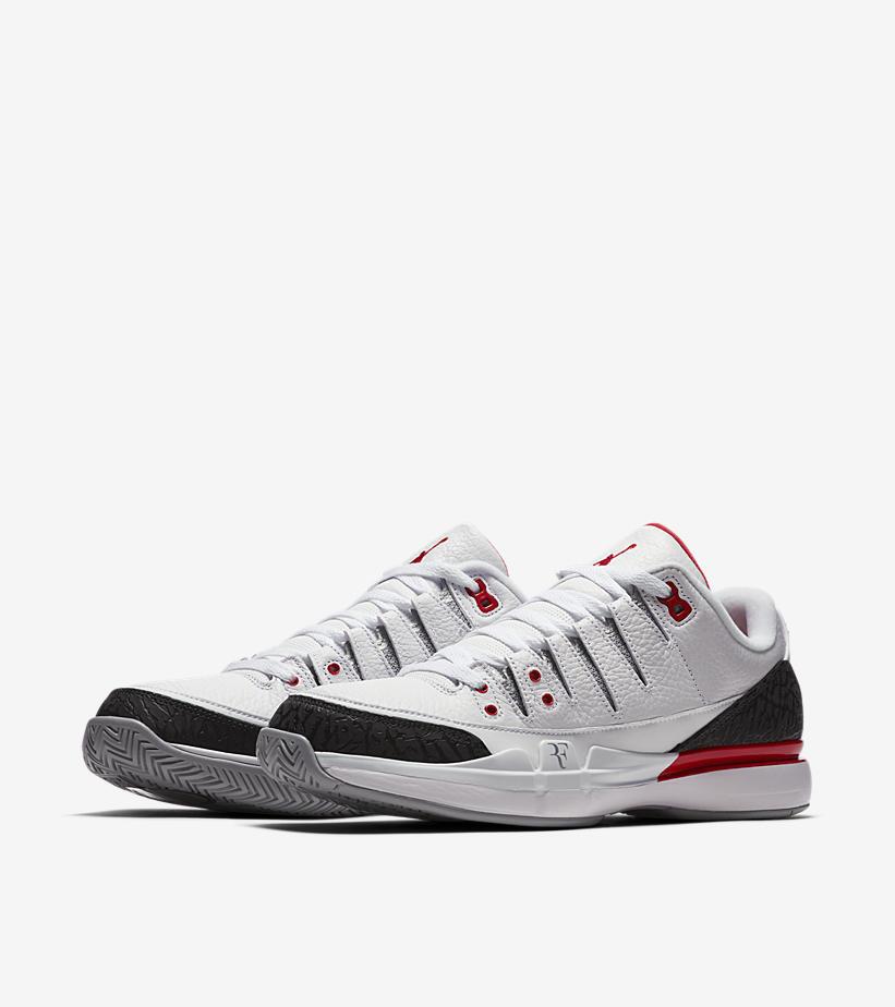 Nike air jordan zum vapore 3 - roger federer iii fuoco bianco rosso cemento 8
