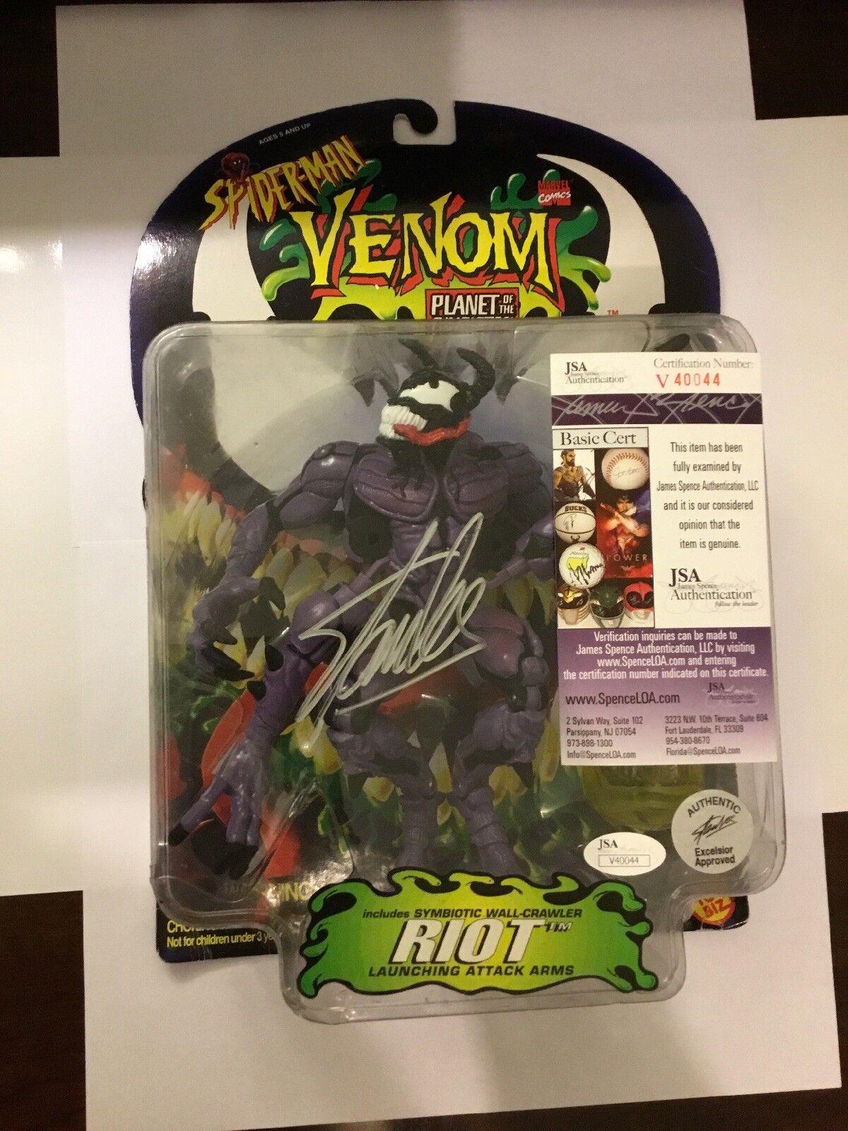 "Riot Toy Biz Marvel Venom Riot ""planet of symbiotes"" Signed By Stan Lee"