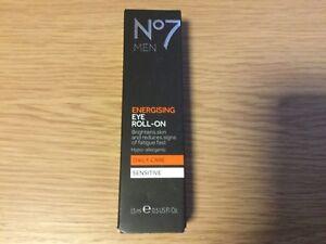 No7 Men Energising Eye Roll-on Sensitive, 15ml Brand New