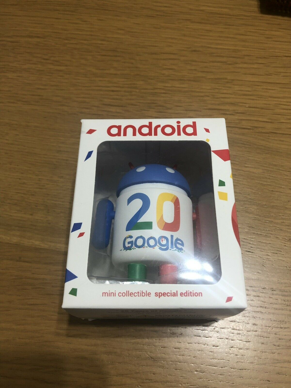 Android Mini Collectible  20 Years Of Google  speziell Ausgabe Figure