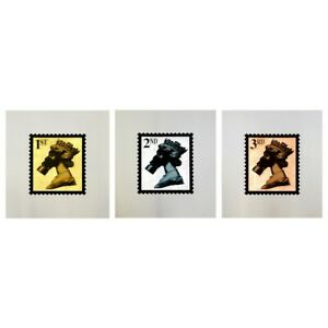 Jimmy Cauty Stamps of Mass Destruction 10 yrs on Gold Silver & Bronze signed 1/3
