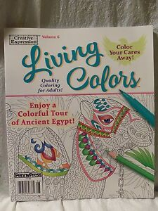 NEW - Creative Expression Living Color Ancient Egypt Vol. 6 Adult ...