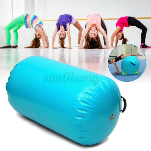 Air Track Tumbling Yoga Rolle 100cmx85cm Gymnastics Mat Luftmatratze Minzgrün
