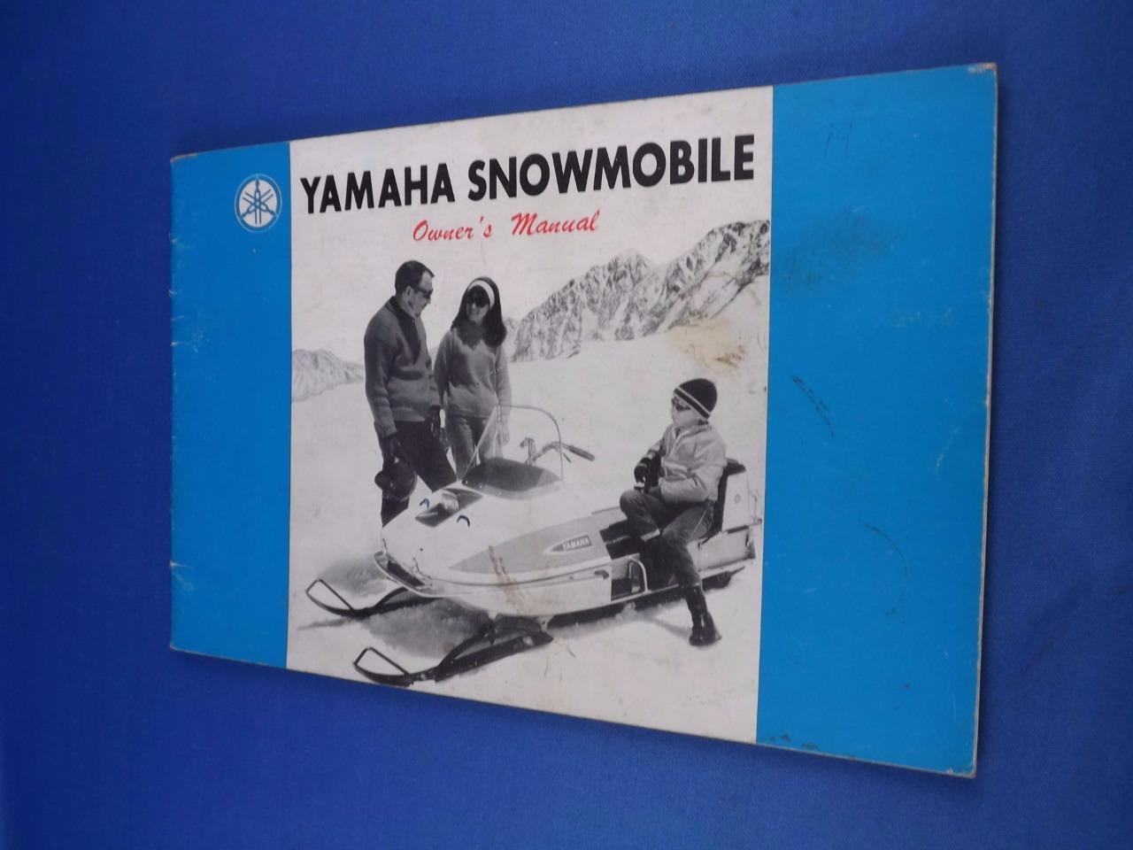 YAMAHA SNOWMOBILE OWNERS MANUAL MODEL  SL 338 SL 396 MAINTENANCE  sale online