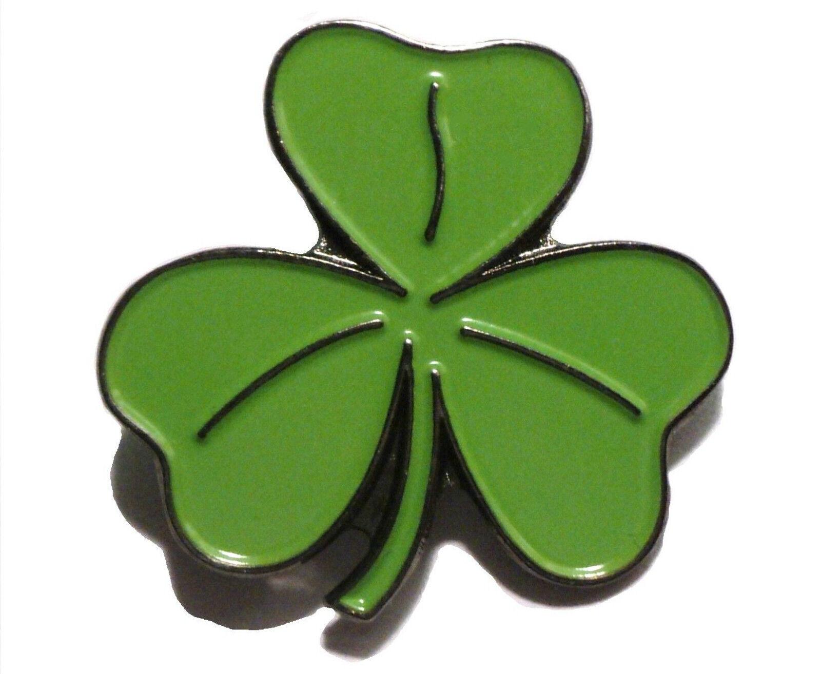 10 IRELAND LUCKY IRISH SHAMROCK PIN BADGES