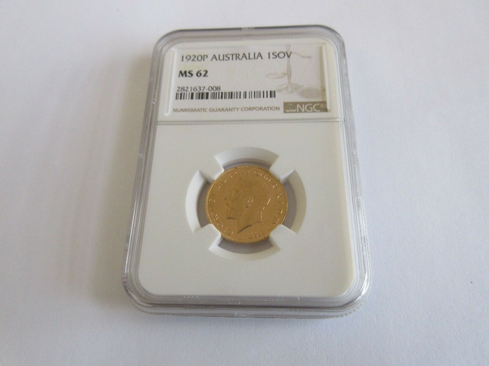 1920P , Australia , 1Sov , NGC , MS 62