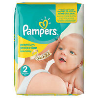 Pampers Baby Nappies Monthly Pack Size 2 Mini 3-6kg 240 Nappies Silky Soft