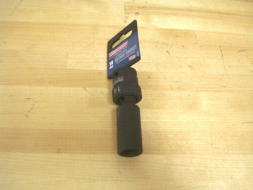 "6 Point 3//8/"" Drive 3-9//64/"" OAL 360° 14mm Metric Flex Deep Impact Socket"