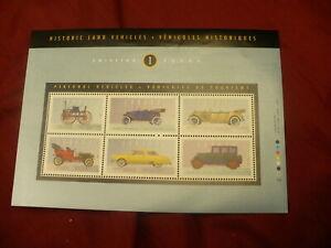 Scott-1490-1-postage-stamp-pane-mini-sheet-mint-1993-land-vehicles-655