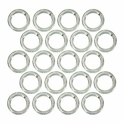 (20) Sterling Silver Open Jump Rings 6mm Diameter 18 Gauge Wire Jewelry Beading