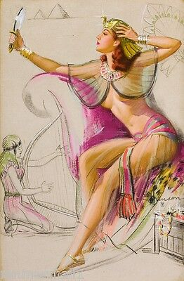 1940s Pin-Up Girl Tennis Player Picture Poster Print Art Pin Up