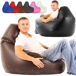 High Back Bean Bags Bag Gaming Pod Chair Beanbag Faux