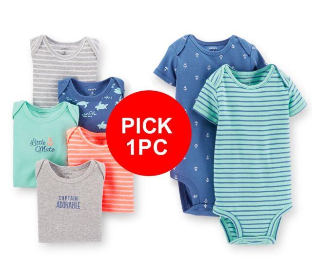 PICK 1pc Carter's baby boy girl Unisex Short sleeve bodysuit sea theme
