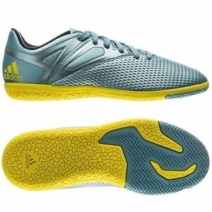 55055be39f3fb ADIDAS MESSI 15.3 IN INDOOR SOCCER SHOES YOUTH Ice/Bright Yellow ...