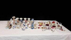 Mixed-ceramic-lot-shoes-thimbles-pin-cushions-and-other-mj24