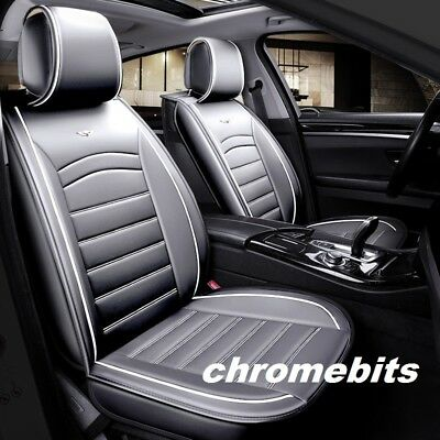 CITROEN C4 PICASSO 07-13 BLACK SEAT COVERS WITH GREY PIPING