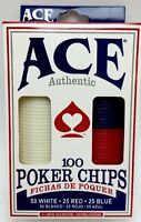 Ace Authentic 100 Poker Chips Set