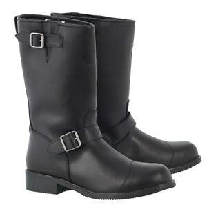 Oxford-Cruiser-Waterproof-Leather-Retro-Style-Motorcycle-Motorbike-Boot