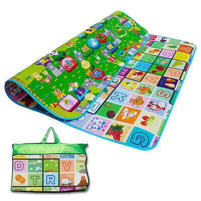 200X180CM Kids Crawing 2 Side Soft Foam Educational Game Play Mat Picnic