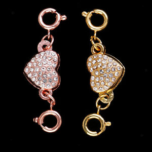 2x-Jewelry-Connector-DIY-Necklace-Bracelets-Clasp-Crystal-Magnetic-Converter