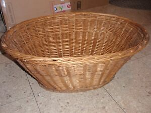 Details About Vintage Wicker Laundry Basket