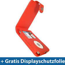 Rot PU Leder Tasche für Apple iPod Classic 80/120/160gb Schutz Hülle Case Etui