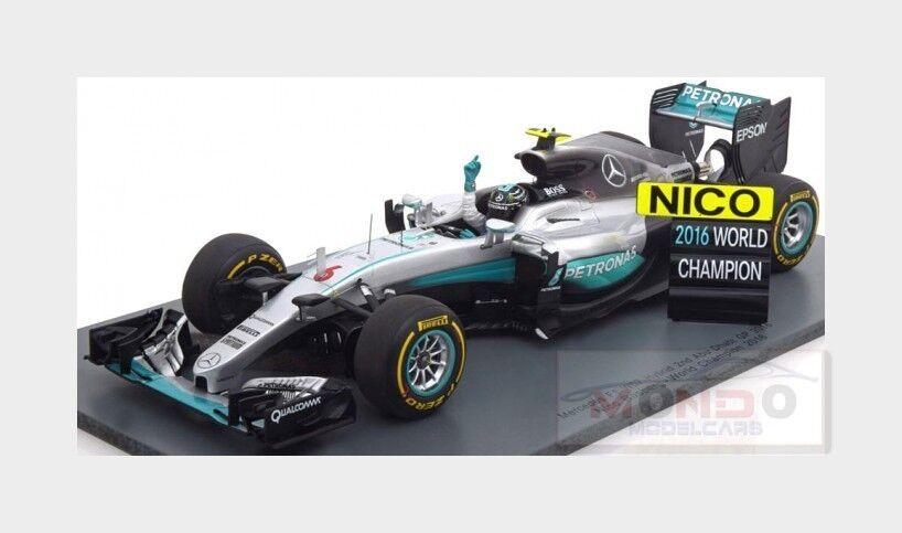 Mercedes F1 W07 #6 Gp 2Nd Abu Dhabi Gp #6 Nico Rosberg 2016 WC SPARK 1:18 18S250 a6b354