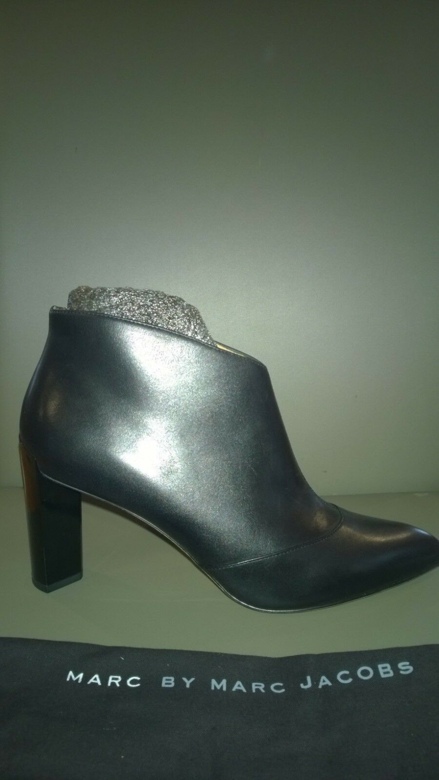 Marc By Marc Jacobs All Angles Ankle Black Leather Boots, Size 40 / US 10