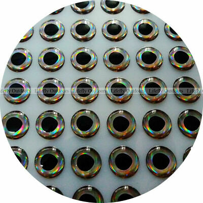 3D Molded Soft Holographic 4.5mm 140 each-Silver Fish Eyes