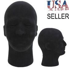 Male Styrofoam Foam Mannequin Manikin Head Model Wigs Glasses Cap Display Stand