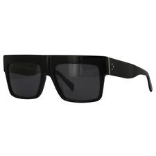 3f5e097bfb89 Celine ZZ-Top Sunglasses Black Frame Grey Polarized Lens CL41756 S 807 3H