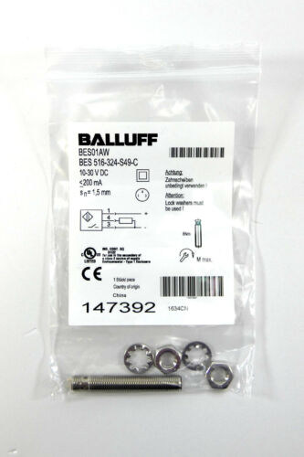BALLUFF induktiver SensorBES01AWBES 516-324-S49-C147392NEU in OVP