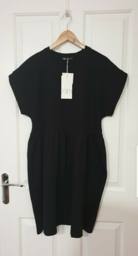 Summer stretchy Black Dress Zara BNWT Size 8-10 S could be post maternity