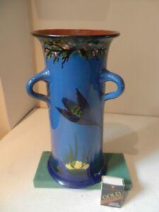 "Torquay longpark Pottery Kingfisher Tri-Handled vase 10""-afficher le titre d`origine DJQAhzZa-09163008-523452193"
