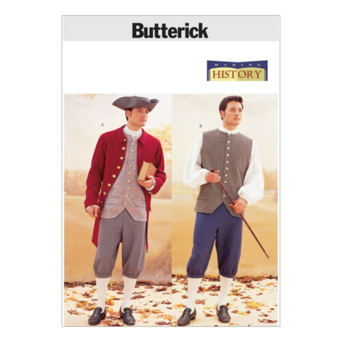 Butterick 3072 Sewing Pattern to MAKE Historic 18th Century Jacket Vest Pant Hat